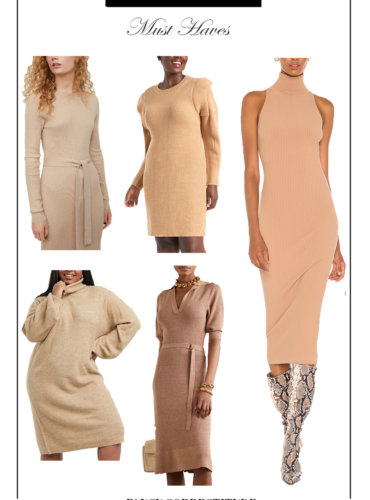 Neutral Knitted Dress Is The Hottest Trend This Fall – Get The Coveted Look
