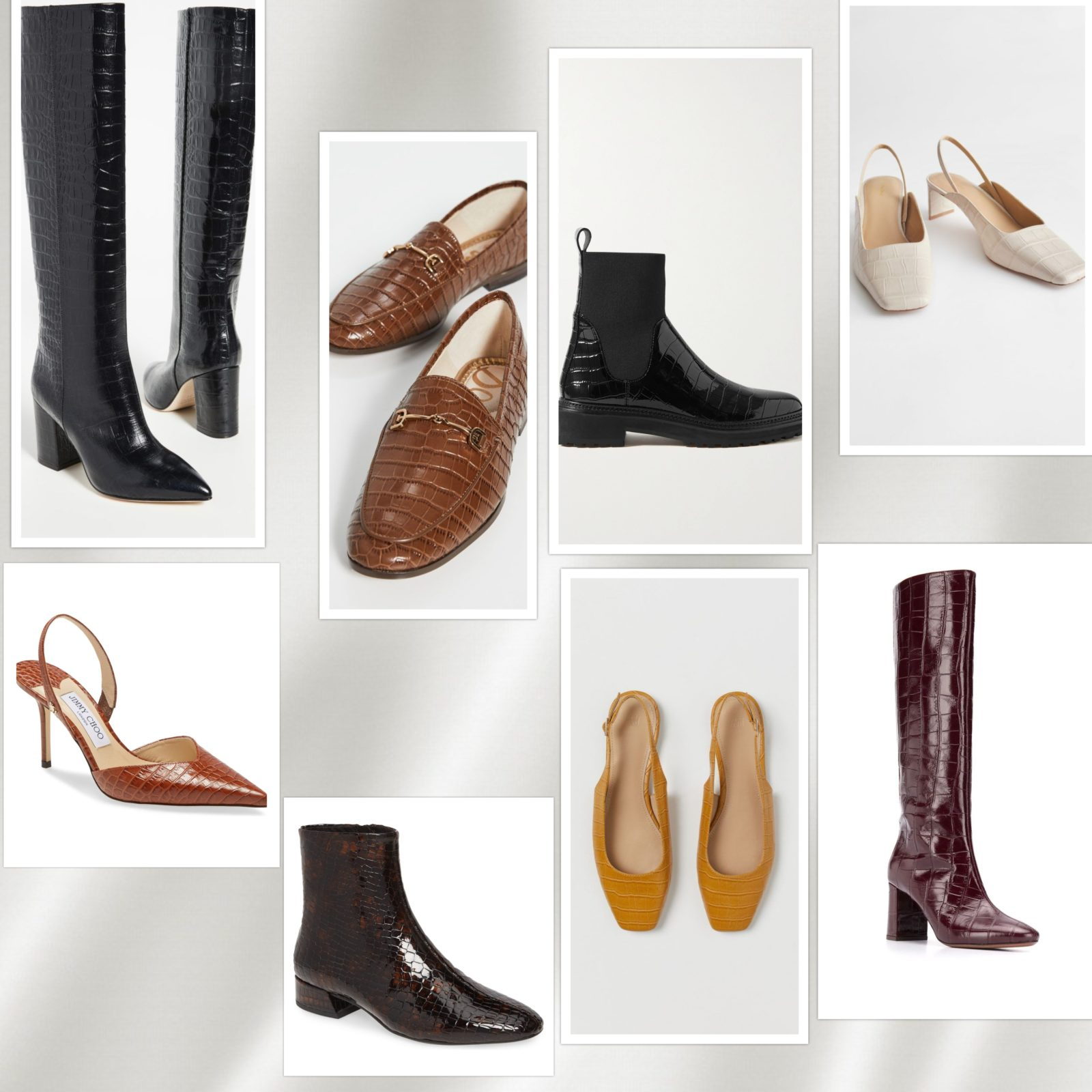 faux croc shoes