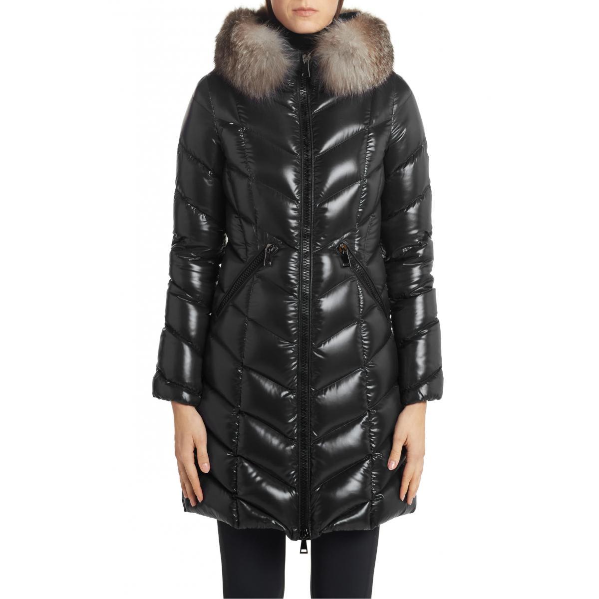 Fox Fur Quilted Coat