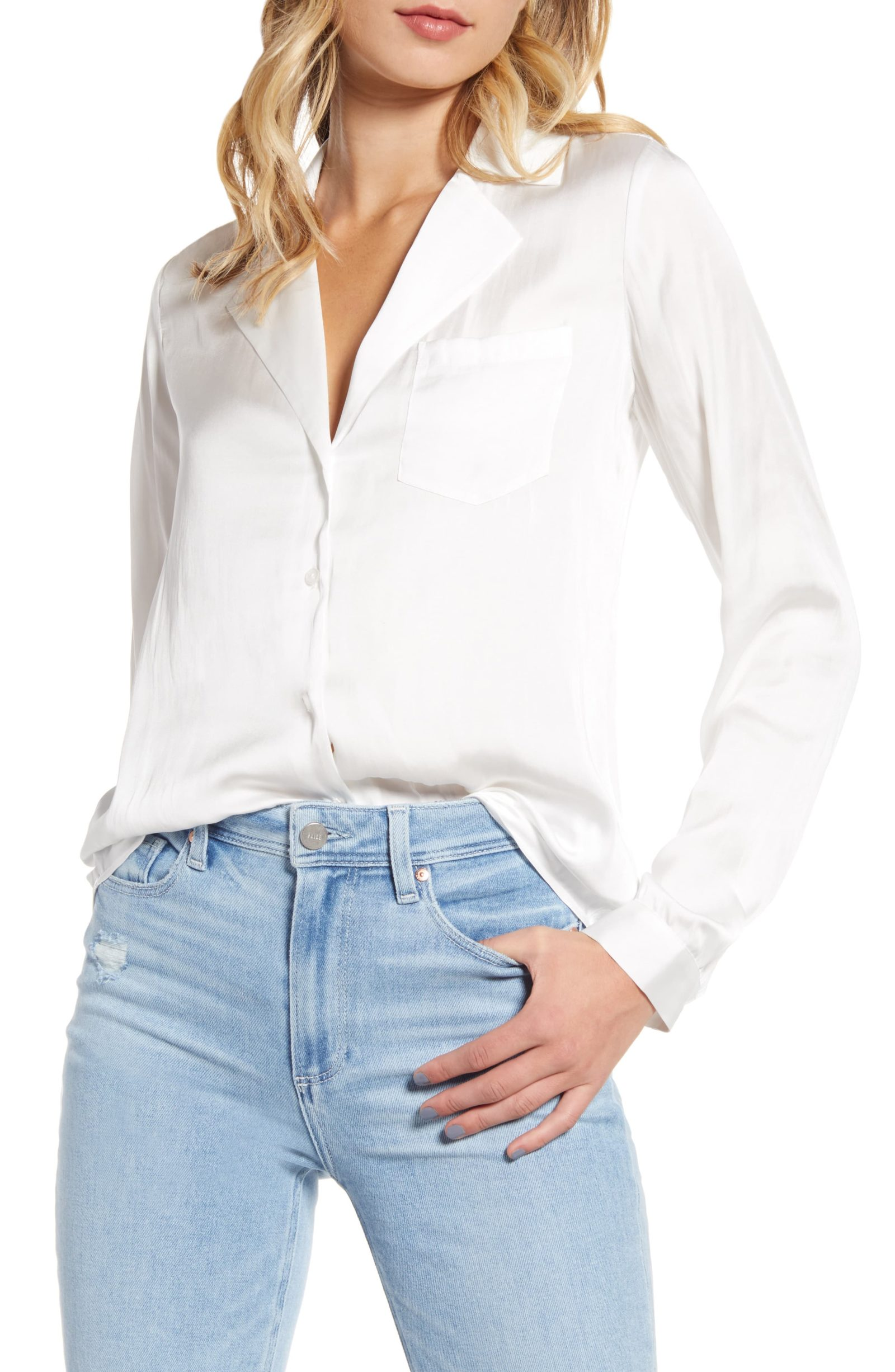 Paige Caprice Satin Shirt