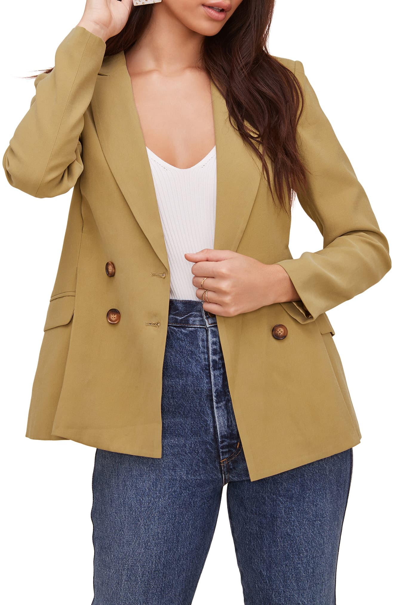ASTR The Label Pleat Detail Fitted Blazer