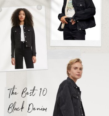 10 Classy And Cool Black Denim Jackets You Need In Your Wardrobe Right Now