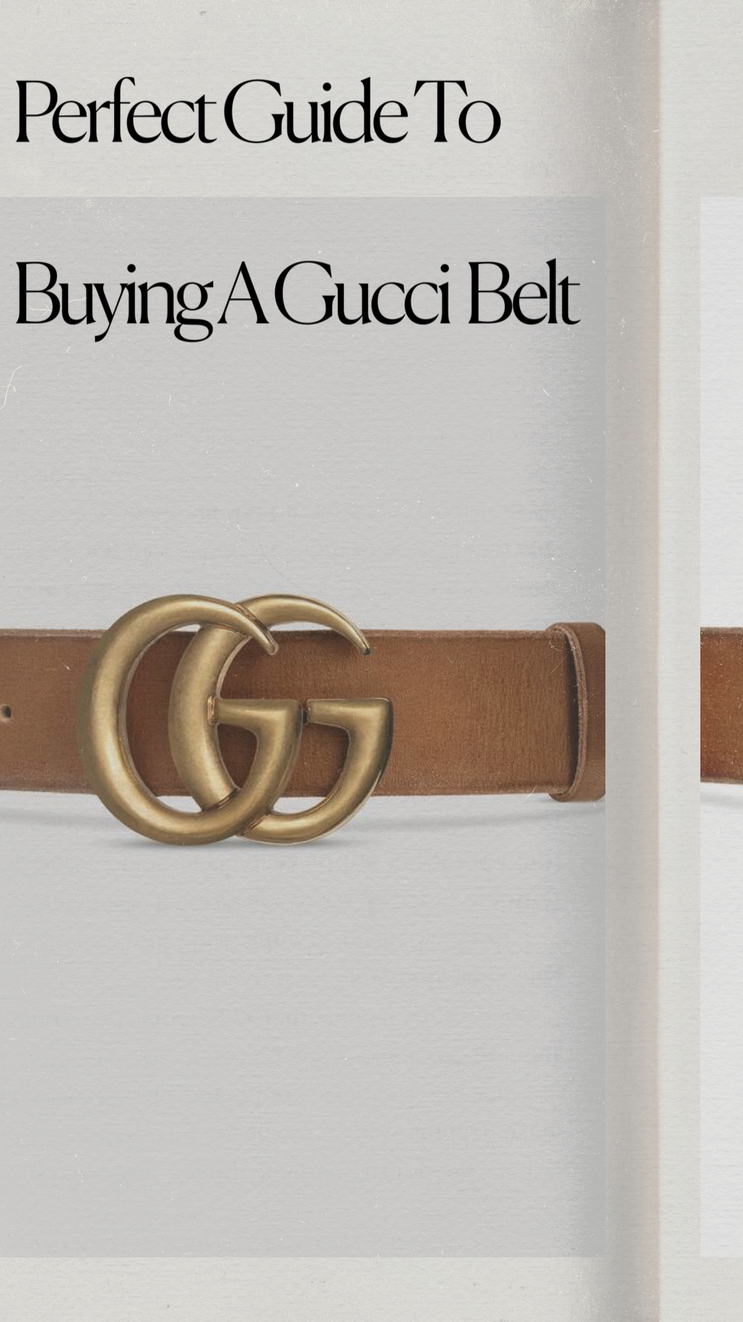 The Perfect Guide To Buying A Gucci Belt