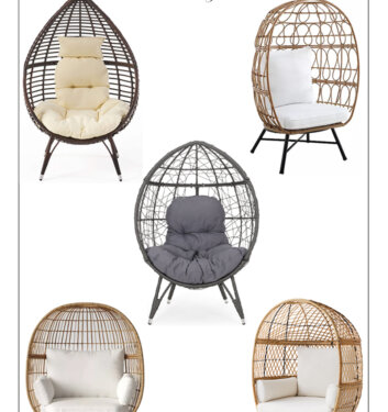 15 Chic Yet Affordable Egg Chairs To Elevate The Look Of A Patio Or An Indoor Space