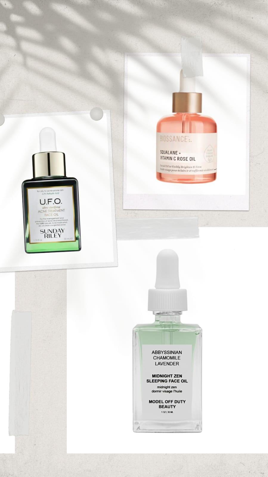 lightweight face oils