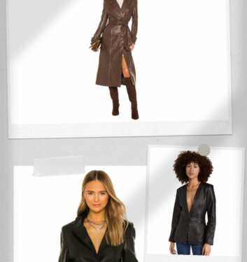 11 Women's Leather Jackets, Coats, & Blazers We Can't Stop Raving About
